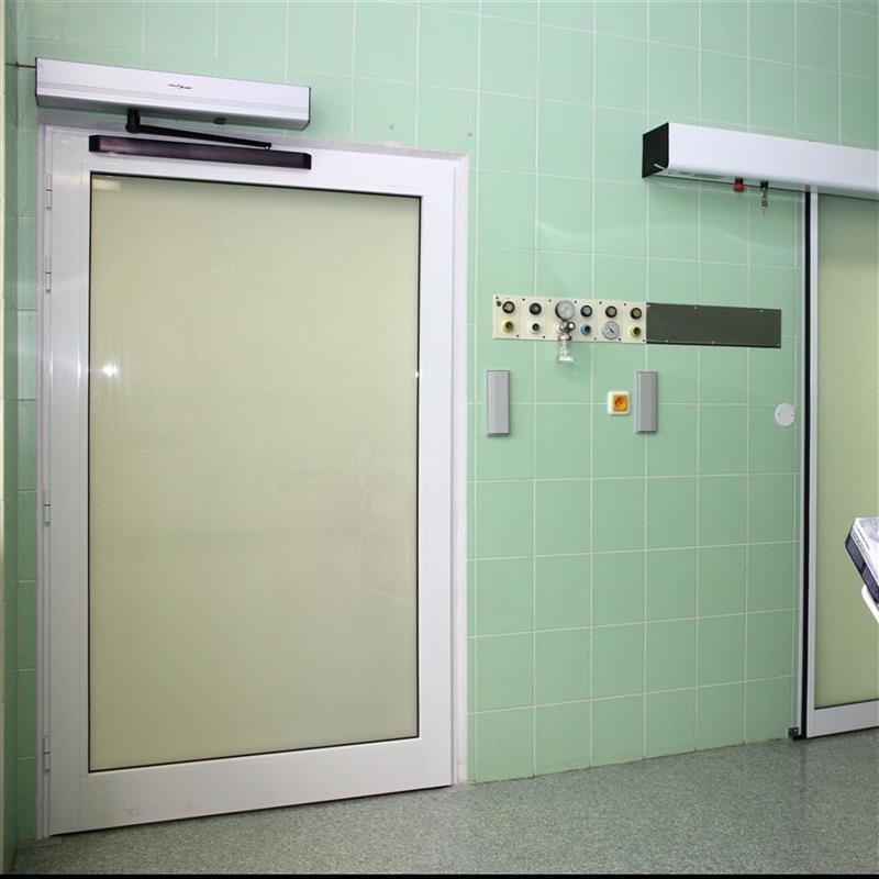 Automatické jednokřídlé otočné dveře s elektropohonem