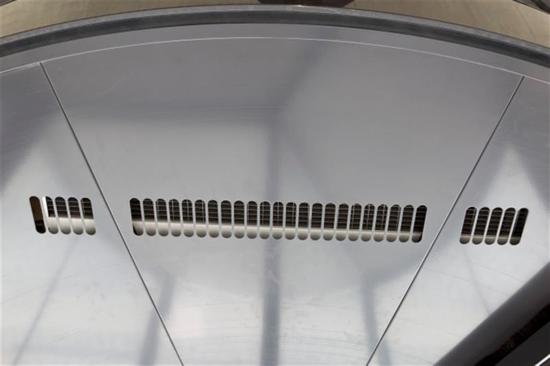 dverová tepelná clona ku karuselovým dverám