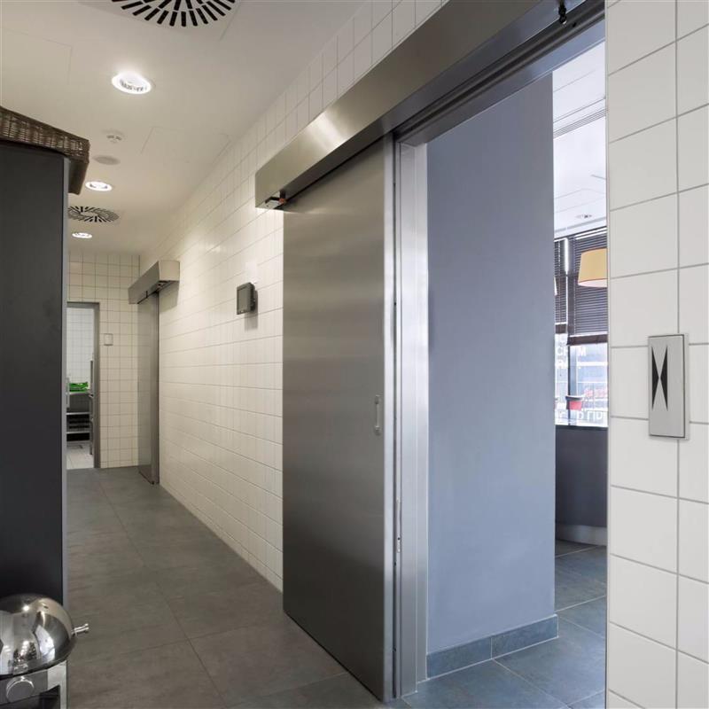 jednokřídlé automatické dvere posuvné v nerezu 4