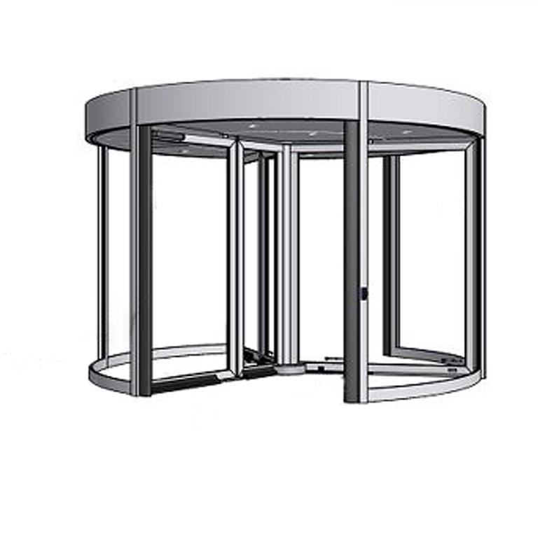 karuselové dvere Tournex konštrukcia