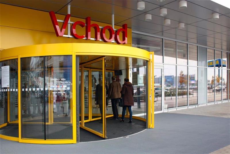 karuselové  dvere Tournex žlté