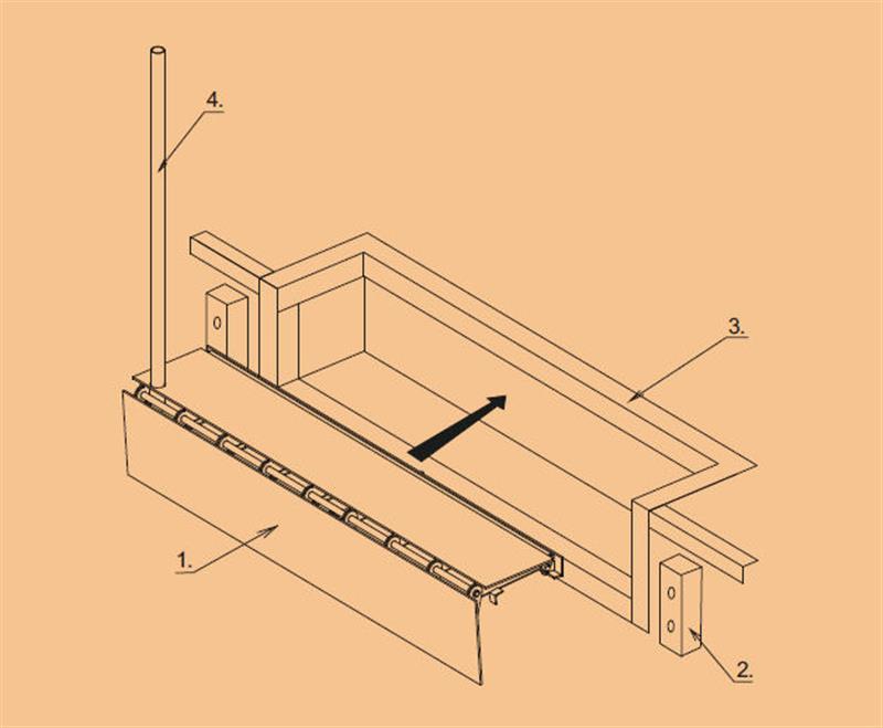 konštrukcia klapkového mostíka