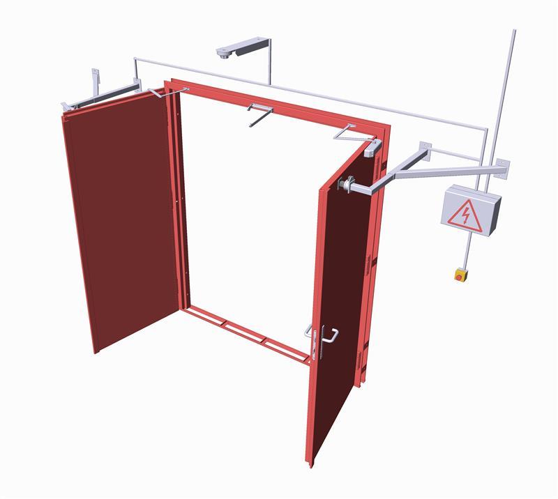 konštrukcia protipožiarnych brán otváravých oceľových