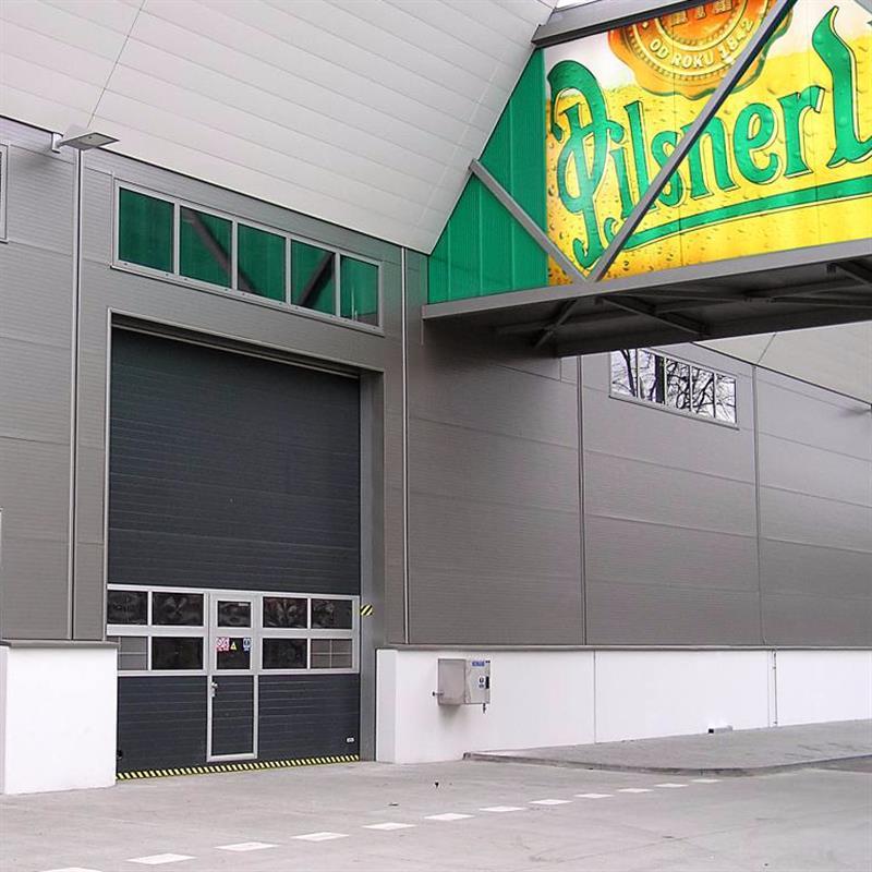 Sekční garážová vrata s klapkovým těsněním