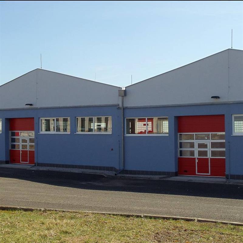 instalace sekčních vrat pro historické muzeum požární ochrany